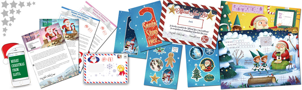 Baby's First Personalised Santa Letter and Activity Pack