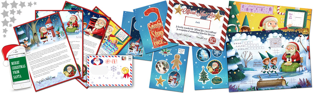 Personalised Santa Letter and Activity Pack