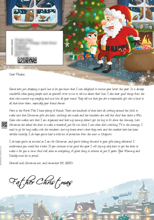 Santa in his grotto - Personalised Santa Letter Background
