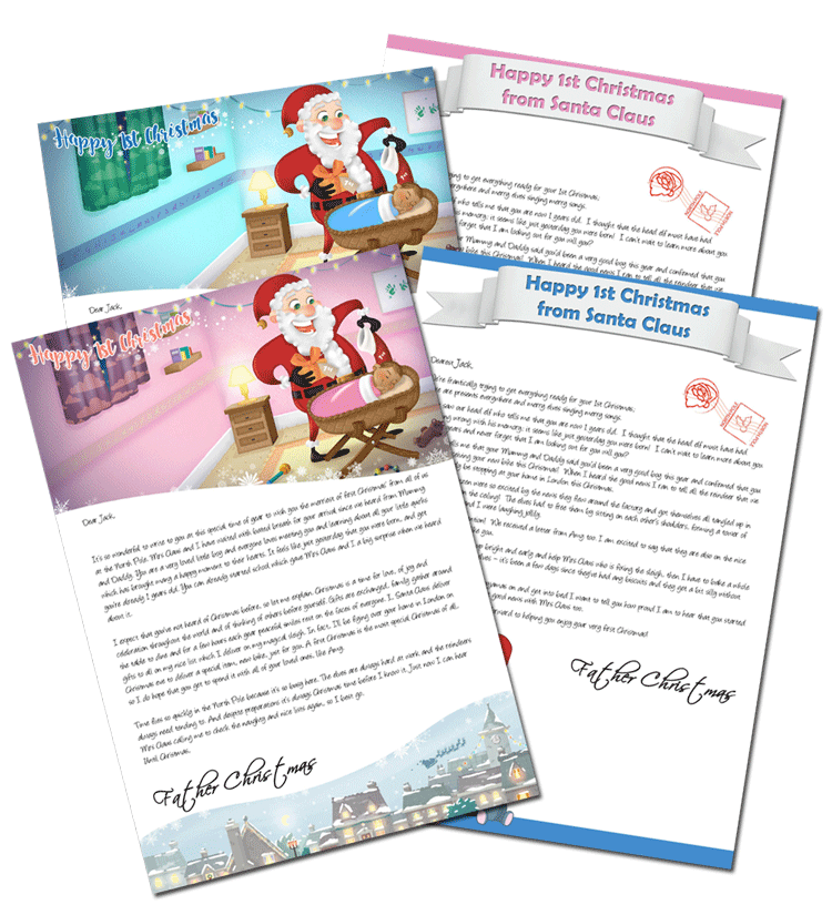 1st Christmas Personalised Santa Letter From Santa Claus
