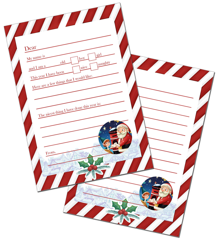 Personalised Letter To Santa Pack