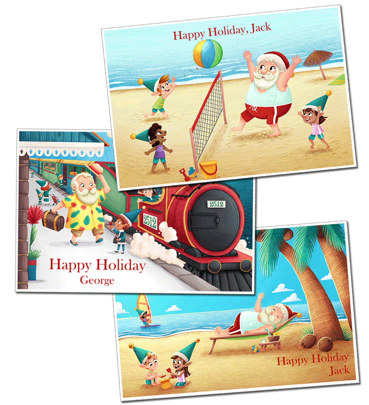 Personalised Postcards From Santa Claus
